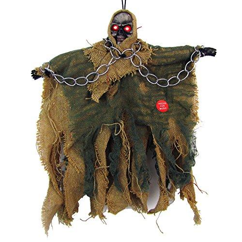 iMixCity Halloween Decoraciones - Fantasmas Colgantes - Control Vocal Decoración Demonio Colgante...