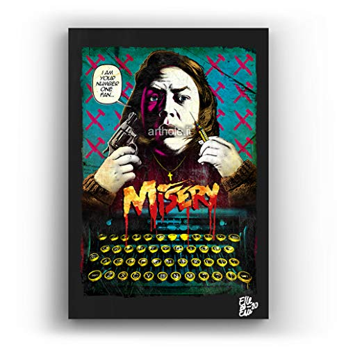 Stephen King Misery - Pintura Enmarcado Original, Imagen Pop-Art, Impresión Póster, Impresion en...