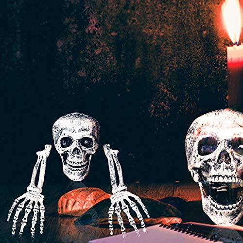 Soddyenergy Halloween Horrible Calavera Artificial Esqueleto Brazo Manos embrujadas Casa Floor...