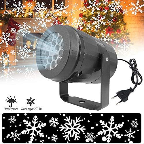 Baiwka Proyector De Luz Led Nevadas, 360 Giratorio Copo De Nieve Proyector De Navidad Luces LED De...