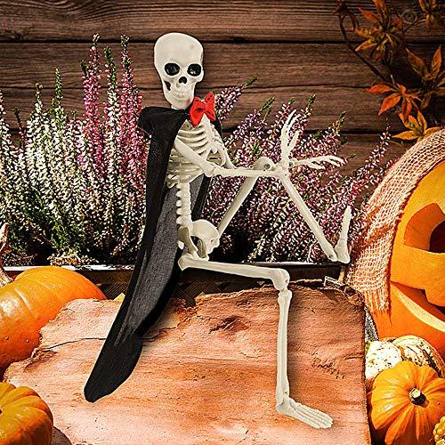 YISC Esqueleto de Halloween Modelo de Esqueleto de Cuerpo Completo Colgante Figura de Calavera de...