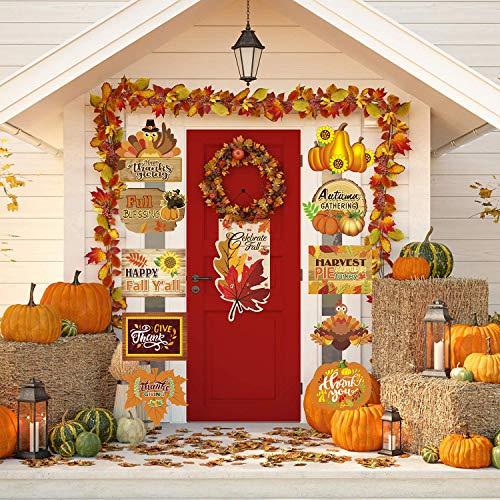 Sayala Decoraciones para Puertas de Halloween,3Piezas Trick Or Treat Banner De Porche para...