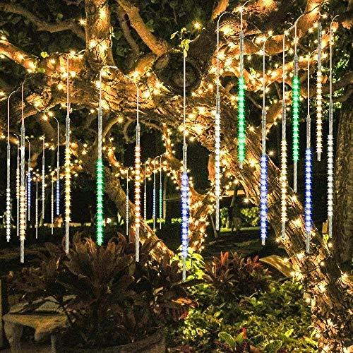 BlueFire Mejorada 50cm 10 Tubos 540 LED de Meteoros Lluvia Luces Guirnalda Luces Led Exterior para...