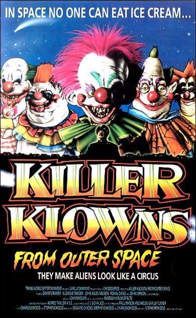 killer klowns, Los payasos asesinos del espacio exterior, mejores películas de payasos asesinos